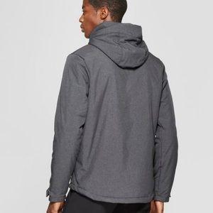 Champion men's ebony soft shell hooded charcoal s